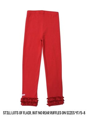 RuffleButts Everyday Ruffled Leggings Red 6-7