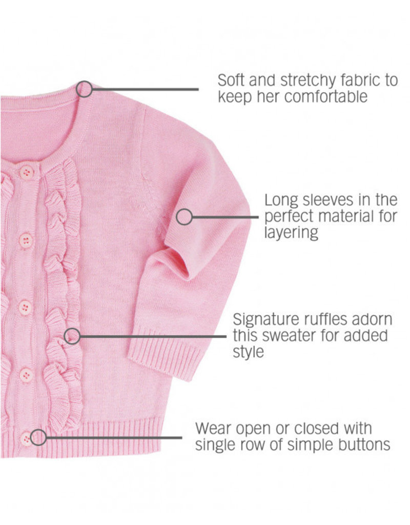 Pink Ruffled Cardigan Toddler