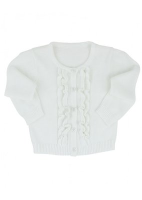 White Ruffled Cardigan Toddler