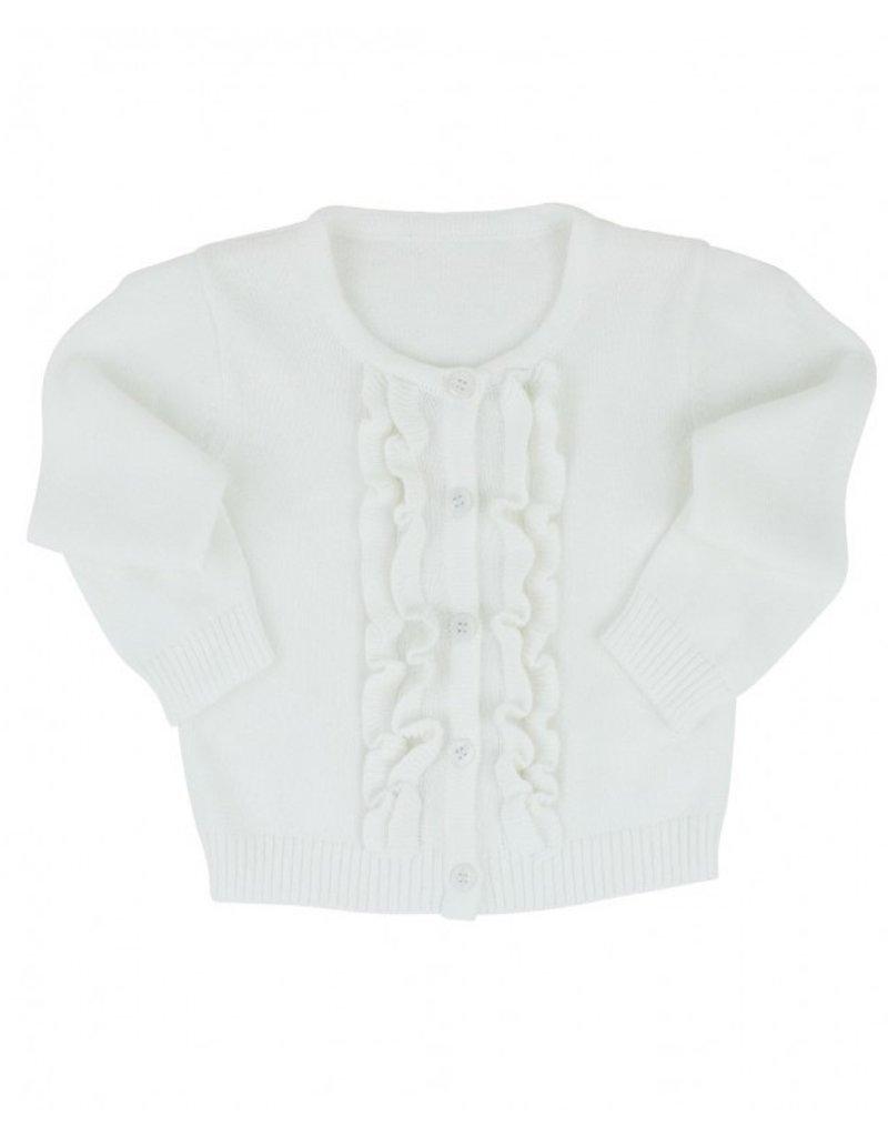 White Ruffled Cardigan Toddler
