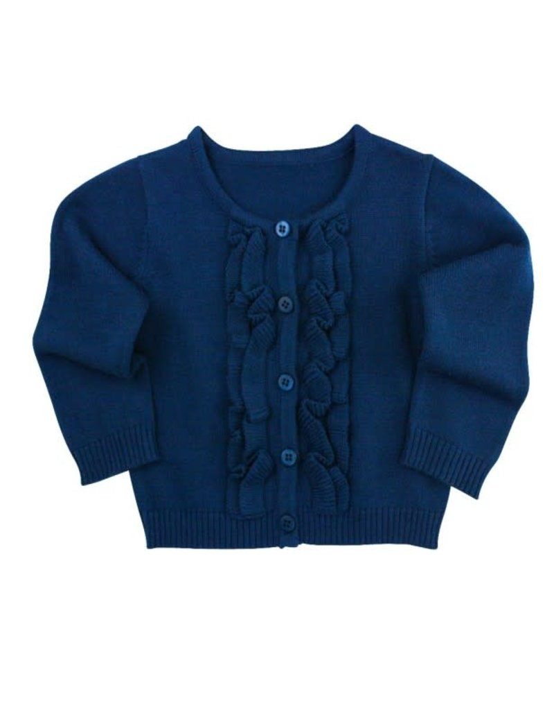Navy Ruffled Cardigan Toddler