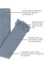 RuffleButts Slate Footless Tights