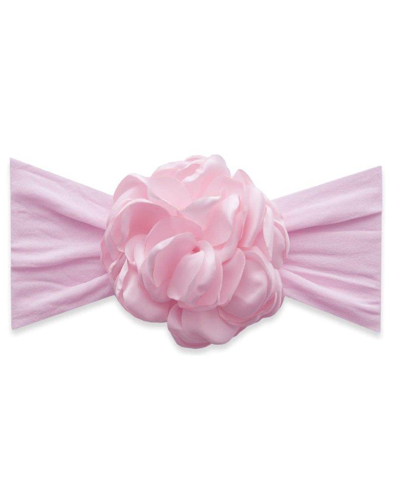 Baby Bling Silk Ruffle Flower Pink