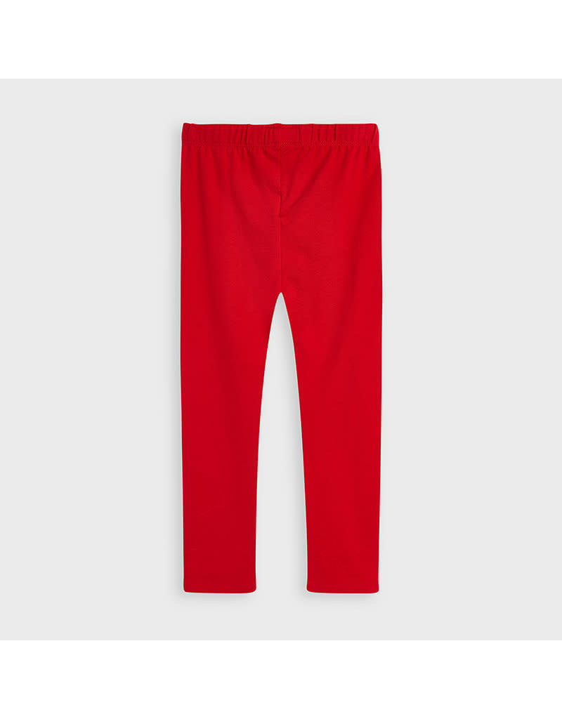 Red Elastane Basic Legging