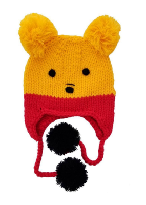 Pooh Bear Earflap Beanie Hat
