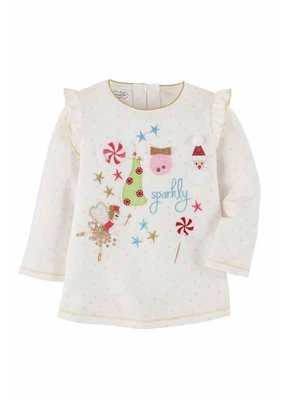 MudPie White Girl Christmas Tunic