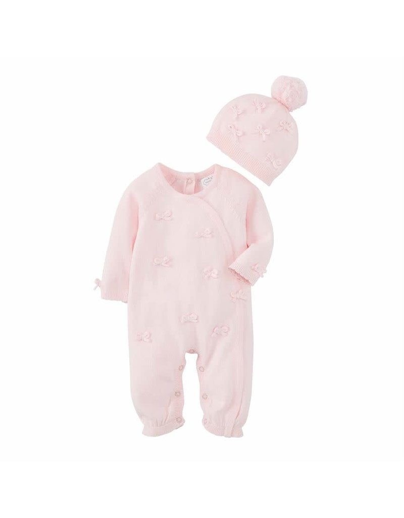 MudPie Knit Bow One Piece with Hat