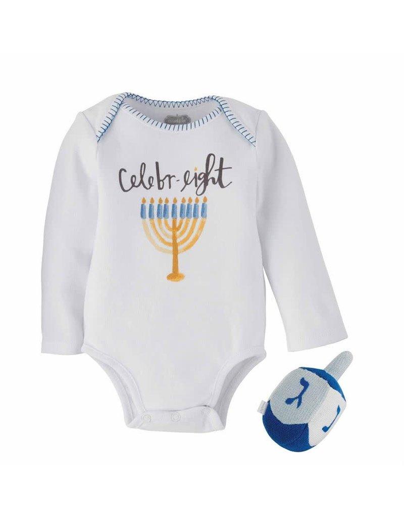 MudPie Hanukkah Knit Raffle Gift Set 0-6m