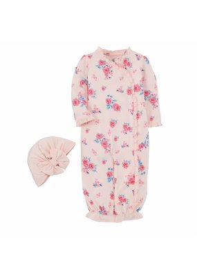 MudPie Little Bloom Gown Hat Set