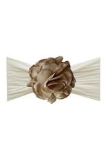 Silk Ruffle Flower Ivory/Khaki