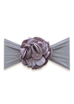 Silk Ruffle Flower Grey