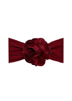 Baby Bling Silk Ruffle Flower Headband Ruby