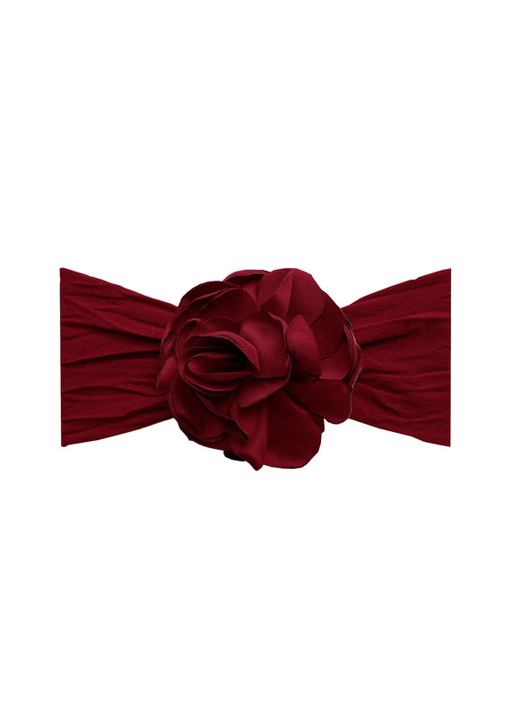 Silk Ruffle Flower Ruby