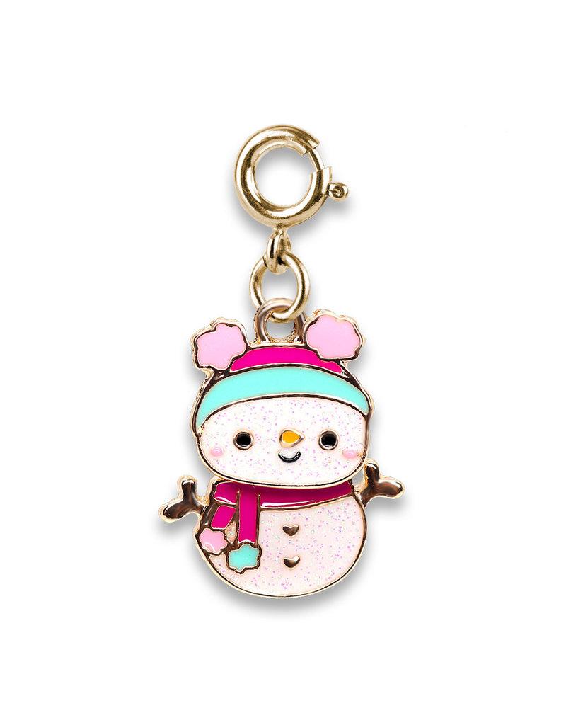 CHARM IT! Gold Swivel Snowman