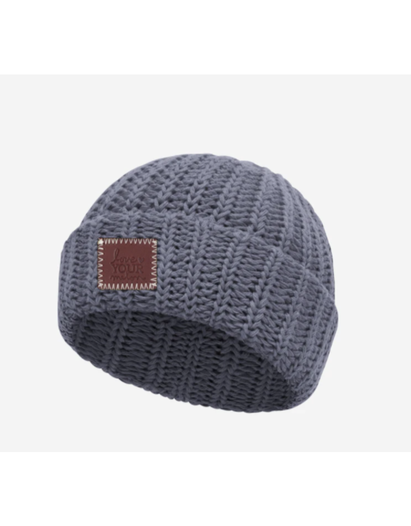 Light Charcoal Classic Cuffed Baby Beanie  0-6m