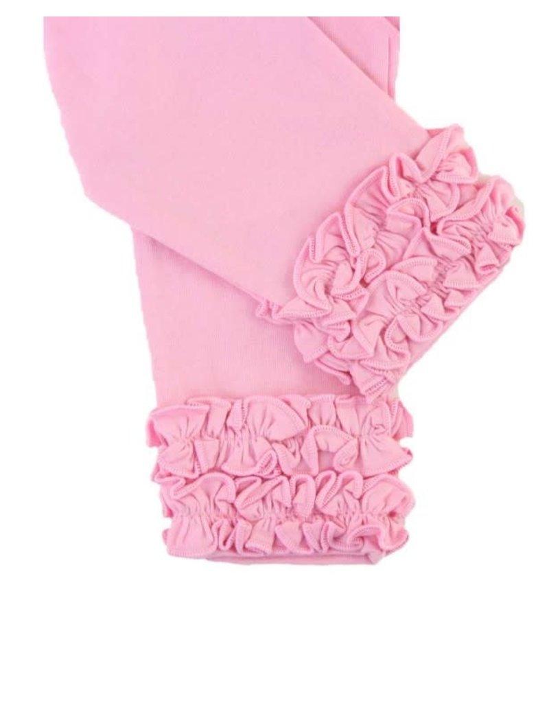 RuffleButts Pink Ruffled Leggings