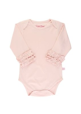 Ballet Pink Ruffled Long Sleeve Onesie
