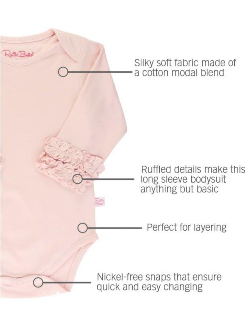 Ballet Pink Ruffled Long Sleeve Onesie