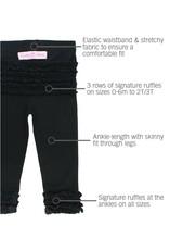 Black Ruffle Leggings