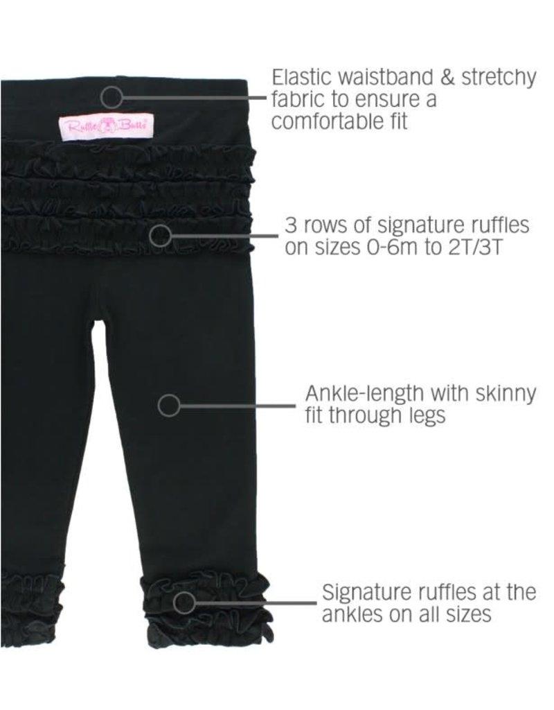 RuffleButts Black Everyday Leggings