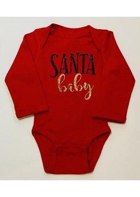 Santa Baby Red Onesie Long Sleeve
