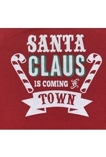 Santa Claus is Coming to Town Glitter Onesie