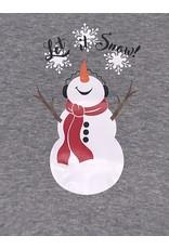 Let it Snow Gray Onesie