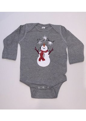 Let It Snow Gray Onesie Glitter