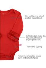 Red Ruffled Long Sleeve Onesie