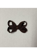 Stage 1 Sale Grosgrain Brown Bow