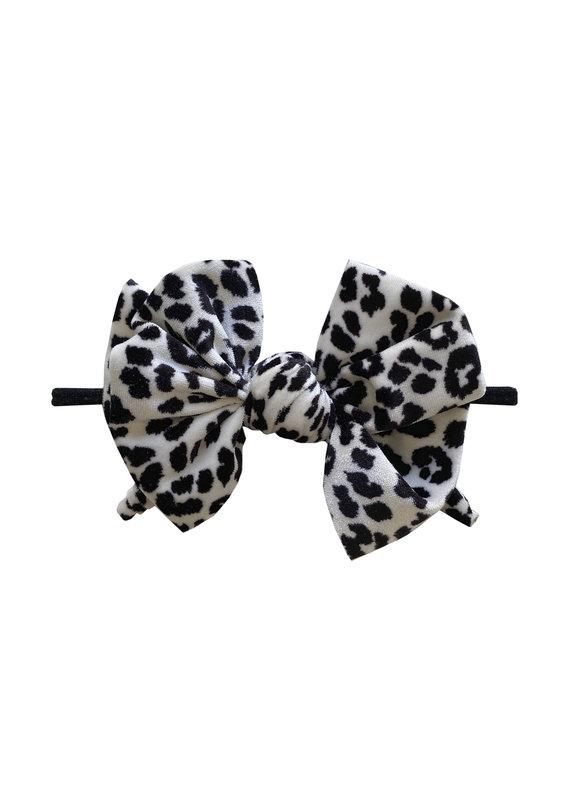 Velvet Fab Skinny Black/White Leopard
