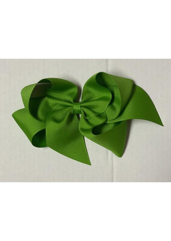 Apple Giant  (7in) Grosgrain Bow