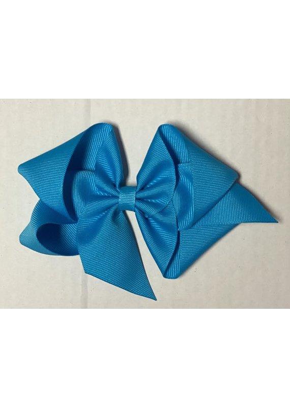 Island Blue Big (5in) Grosgrain Bow