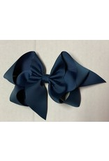 Milltary Blue Big (5in) Grosgrain Bow
