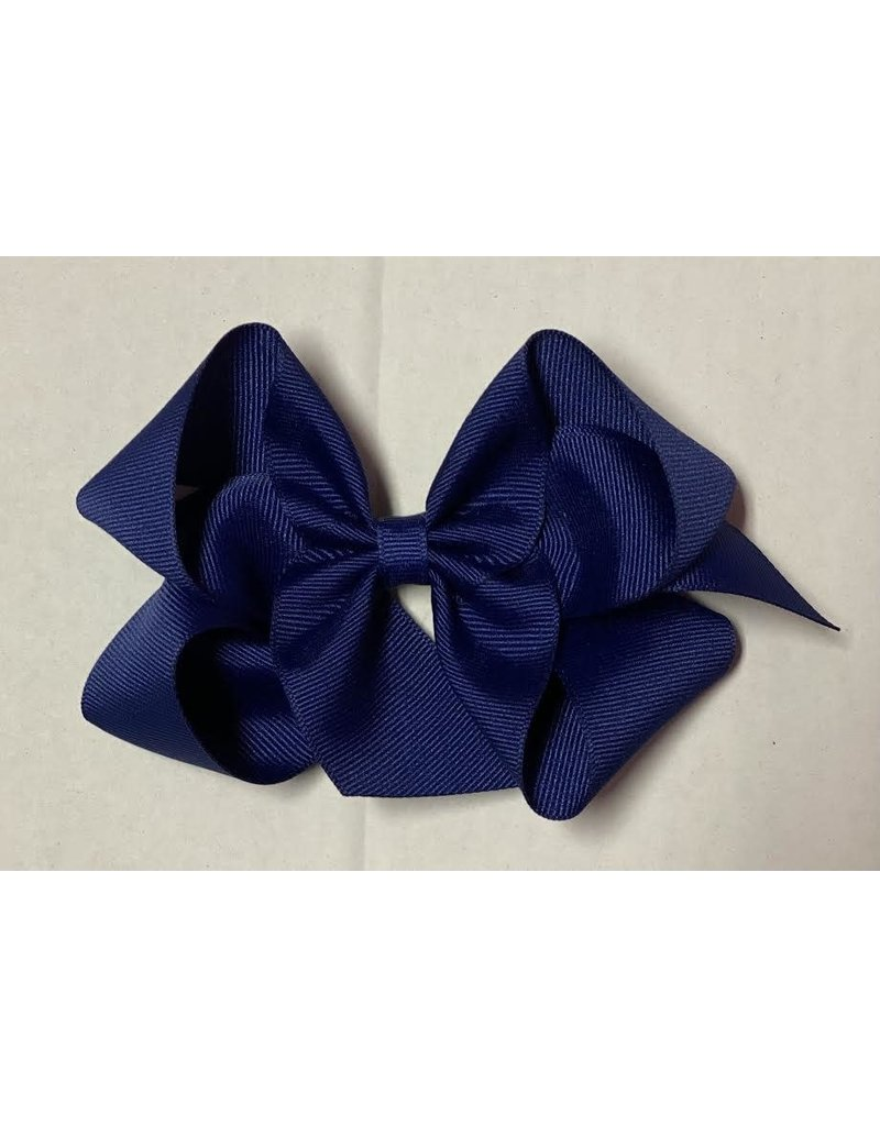 Navy Big (5in) Grosgrain Bow