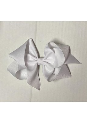 White Small (4in ) Grosgrain Bow