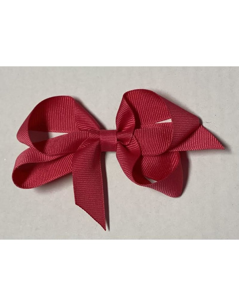 French Pink Small (4in) Grosgrain Bow