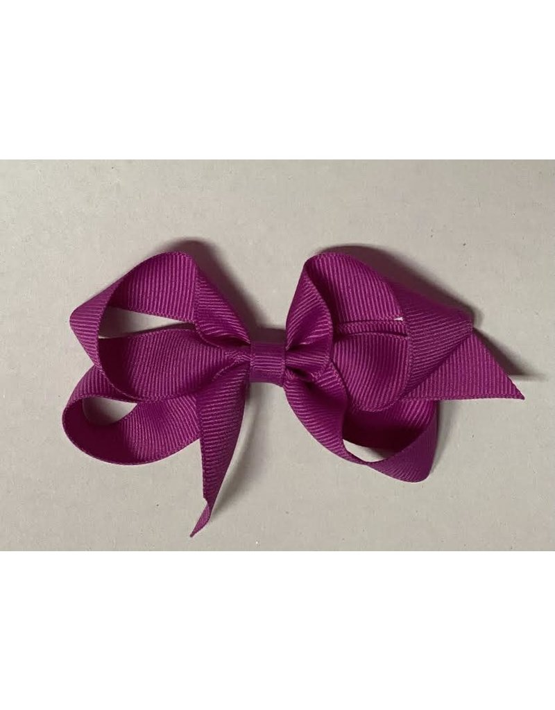 Wild Berry (4in) Grosgrain Bow