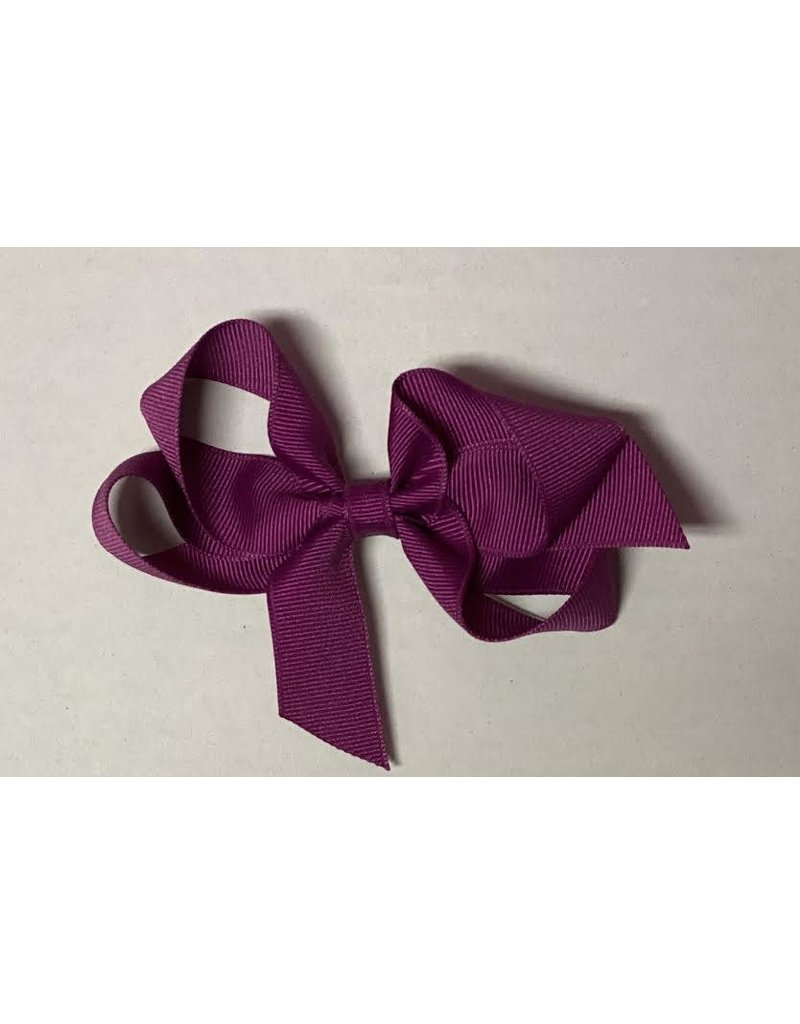 Magenta Small (4in) Grosgrain Bow