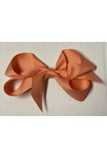 Apricot Small (4in) Grosgrain Bow