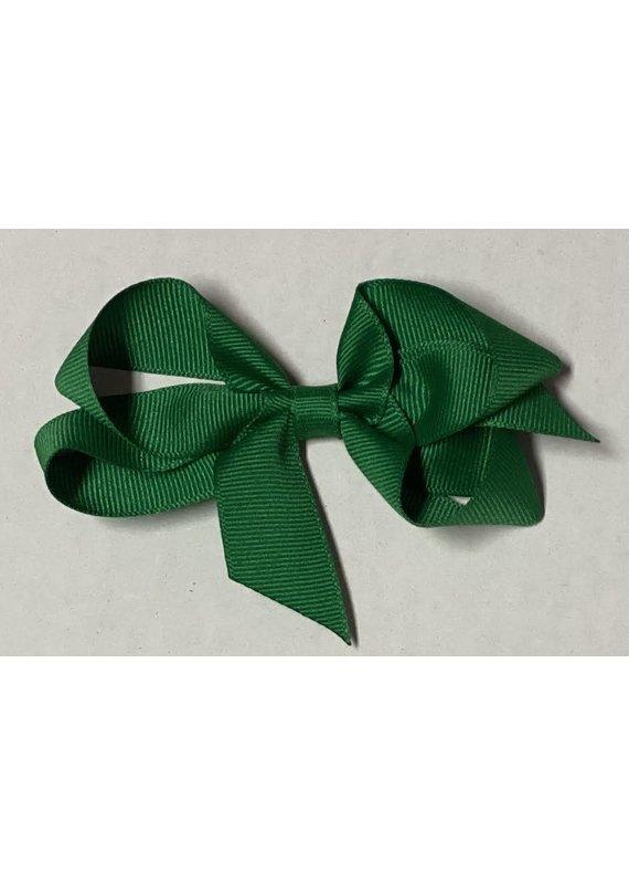 Emerald Green Small (4in) Grosgrain Bow