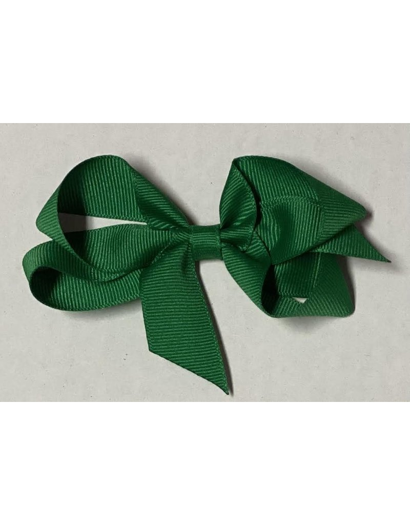 Emerald Green Small (4in) Grosgrain Bow