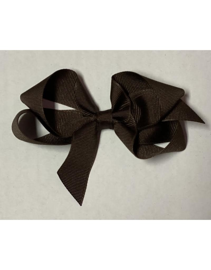 Brown Small (4in) Grosgrain Bow