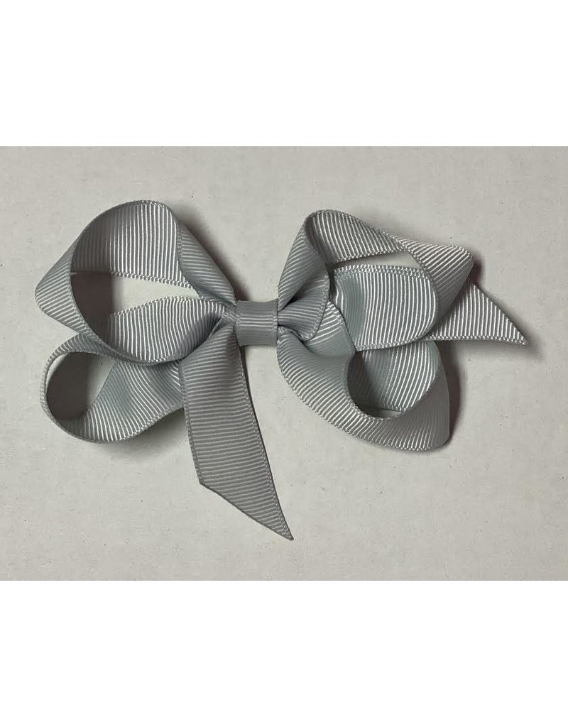Light Gray Small (4in) Grosgrain Bow