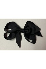 Black Small (4in) Grosgrain Bow
