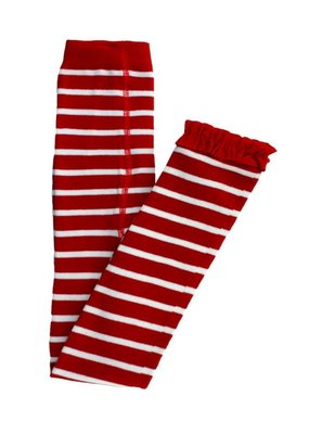 Red Stripe Footless Tights