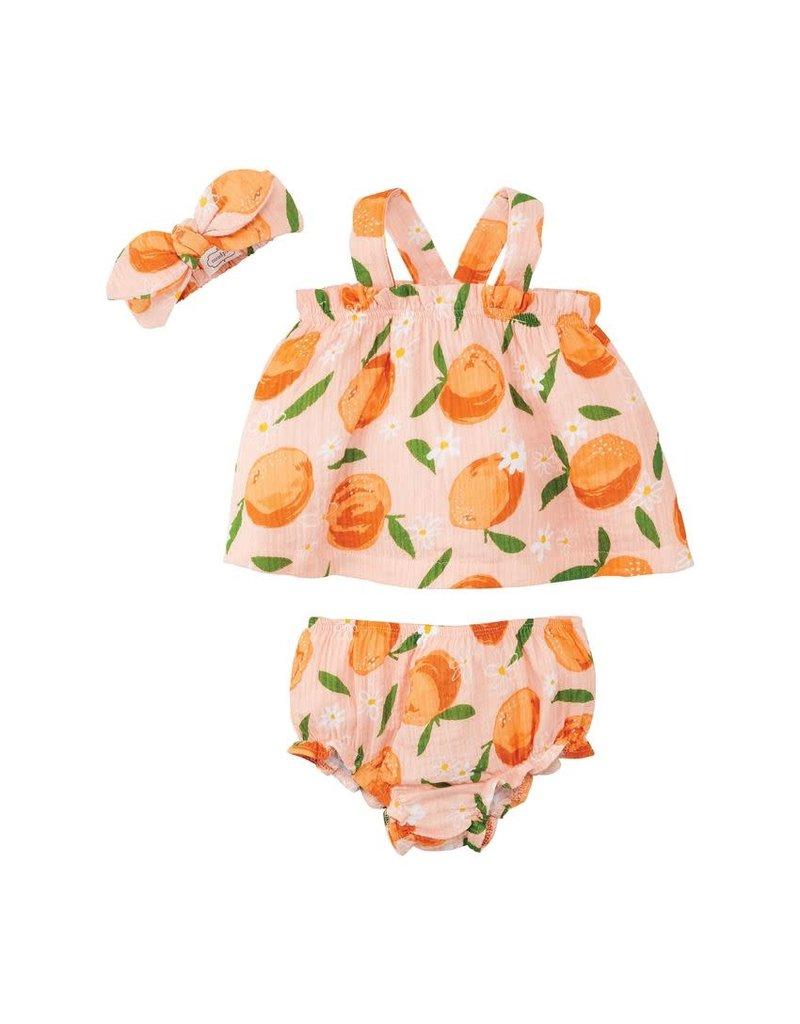 Orange Print Pinafore