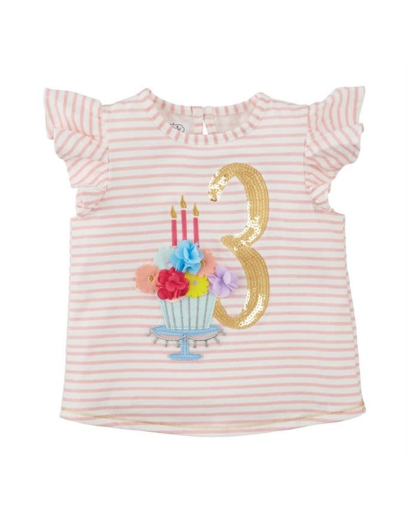 Three Birthday Shirt 3T