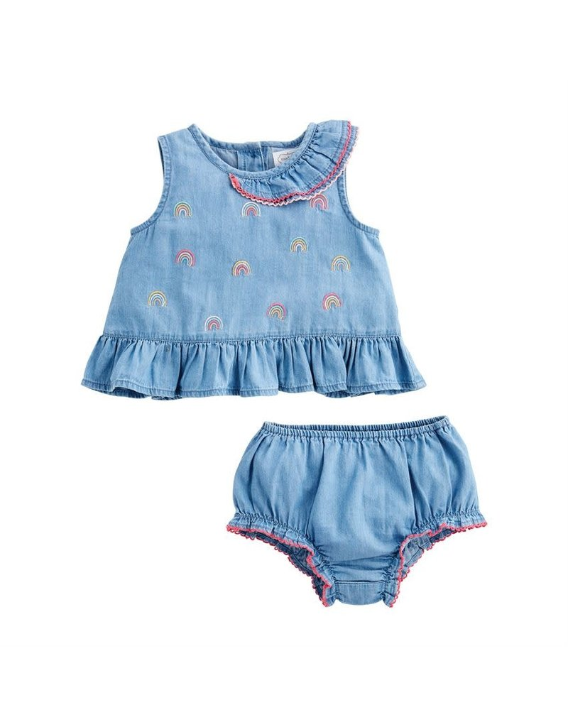Denim Pinafore and Bloomer