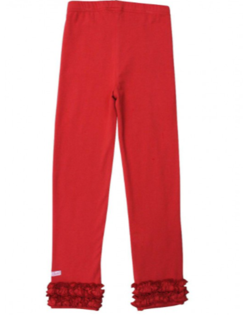 Red Ruffle Leggings